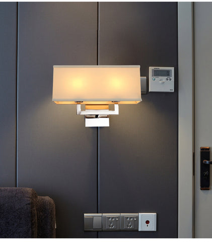 Modern 2 Light Chrome Wall lamp