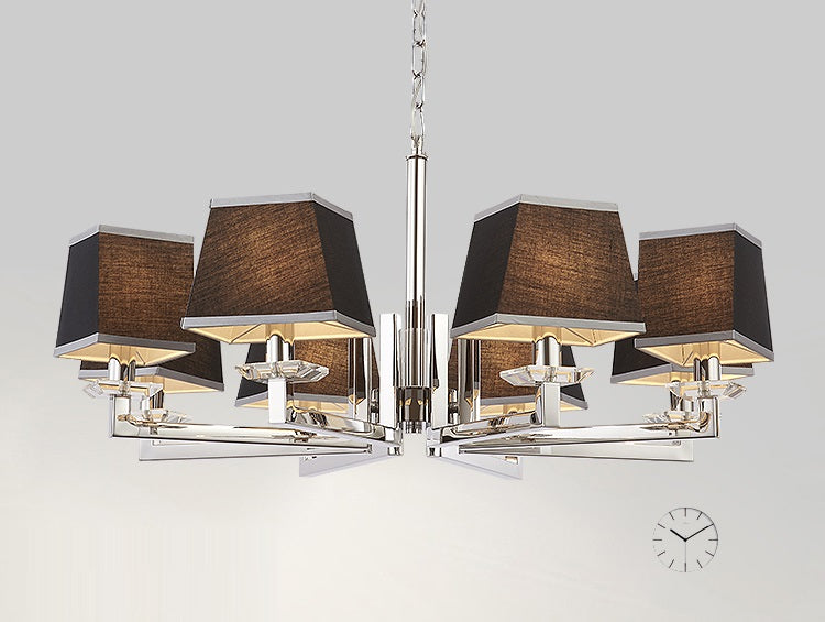 Modern 6 Light Chrome Chandelier