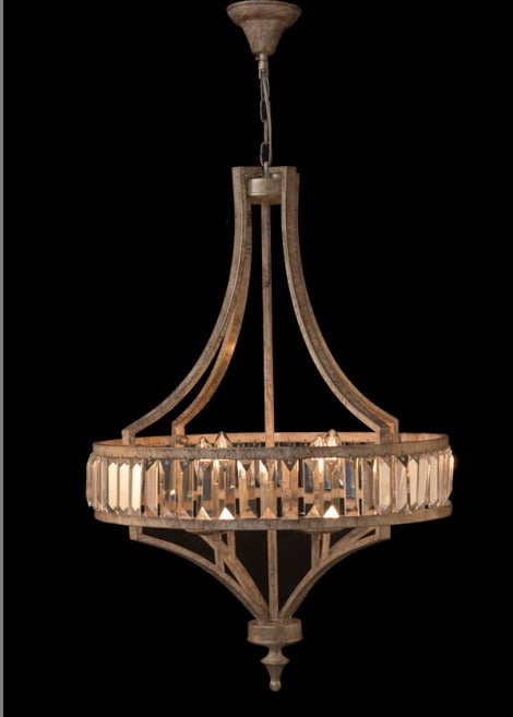 Soft Silver 4 Light Crystal Chandelier