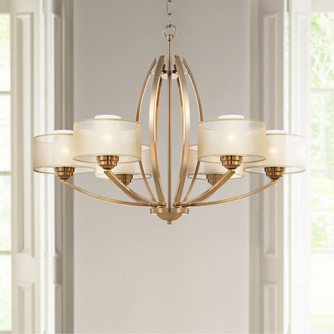 Modern Stylish 6 Light Chandelier