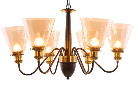 Loft Black 6 Light Chandelier