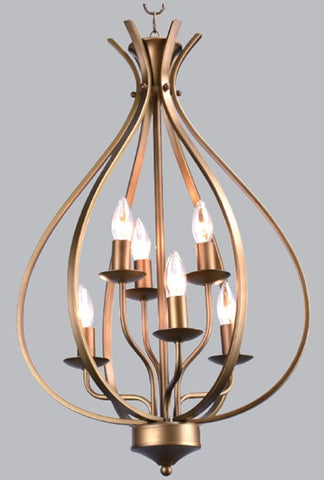 American Brown Lantern Pendant Light