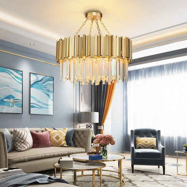 Nordic Golden Crystal Pendant Light