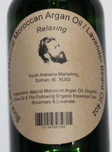 Load image into Gallery viewer, Buck Lee's Natural Argan & Olive Oil Lavender Relaxing Beard Oil 4oz