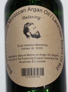 Buck Lee's Natural Argan & Olive Oil Lavender Relaxing Beard Oil 4oz