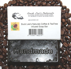 Buck Lee's Naturals Coffee & Tea Tree Infused Soap Bar