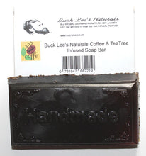 Load image into Gallery viewer, Buck Lee's Naturals Coffee & Tea Tree Infused Soap Bar