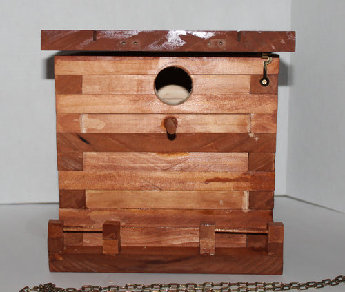 Bucklee's Naturals Solid Wood Small Songbird House/Nest Box