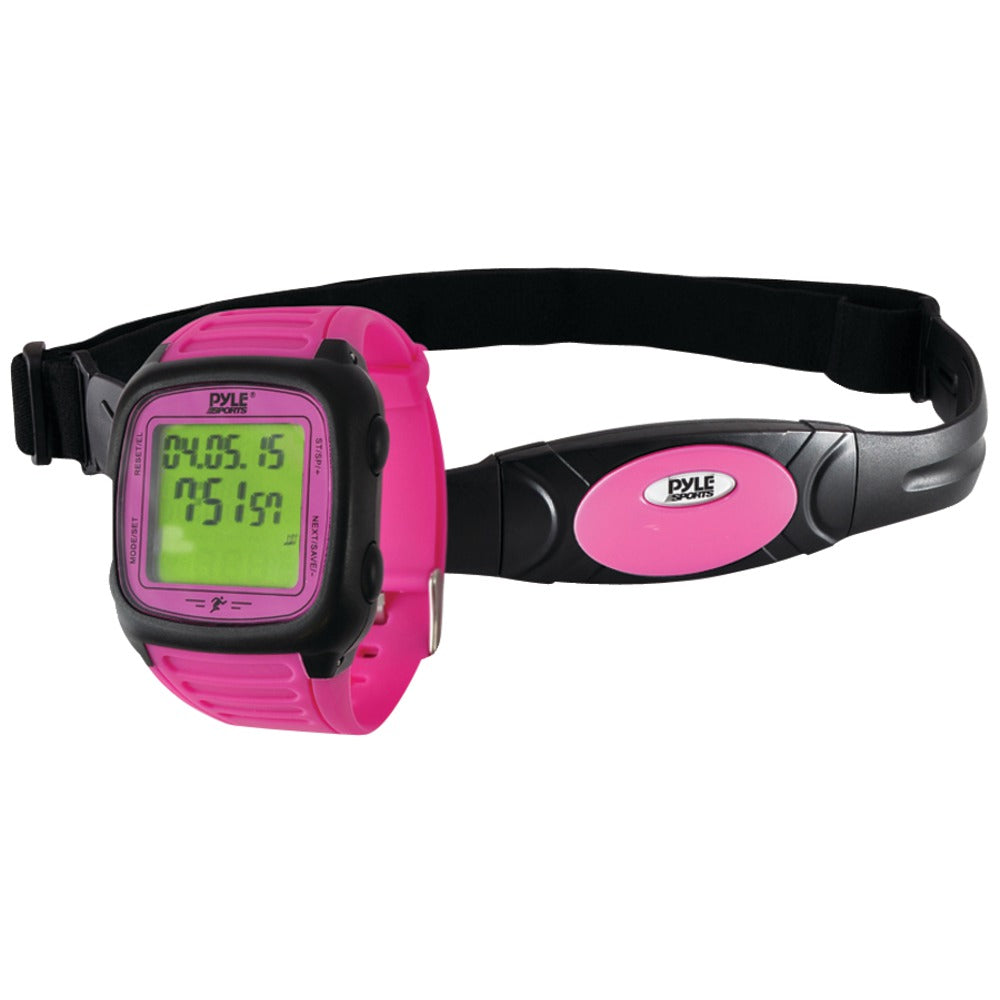 Pyle-sports Multifunction Activity Watch With Heart Rate Monitor (pink)