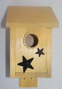 Buck Lee's Naturals Wooden Yellow Nest Birdhouse