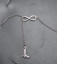 Load image into Gallery viewer, Buck Lee's Naturals Infinity With Cowboy Boot Fashion Necklace