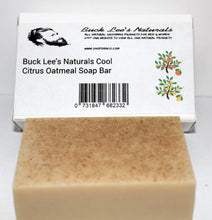 Load image into Gallery viewer, Buck Lee's Naturals Cool Citrus Oatmeal Soap Bar