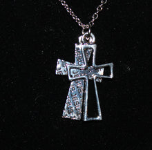 Load image into Gallery viewer, Buck Lee's Naturals Double Jesus Cross With Chain/Clasp