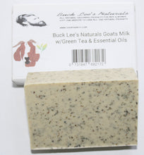 Load image into Gallery viewer, Buck Lee's Naturals Goats Milk Tazo Green Tea w/ Essential Oils Bar Soap