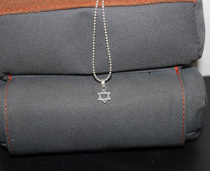 Buck Lee's Naturals Hand & Star Of David Sterling Pendants With Chain
