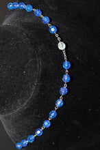 Load image into Gallery viewer, Buck Lees' Naturals Blue Bead Rosary Brand New