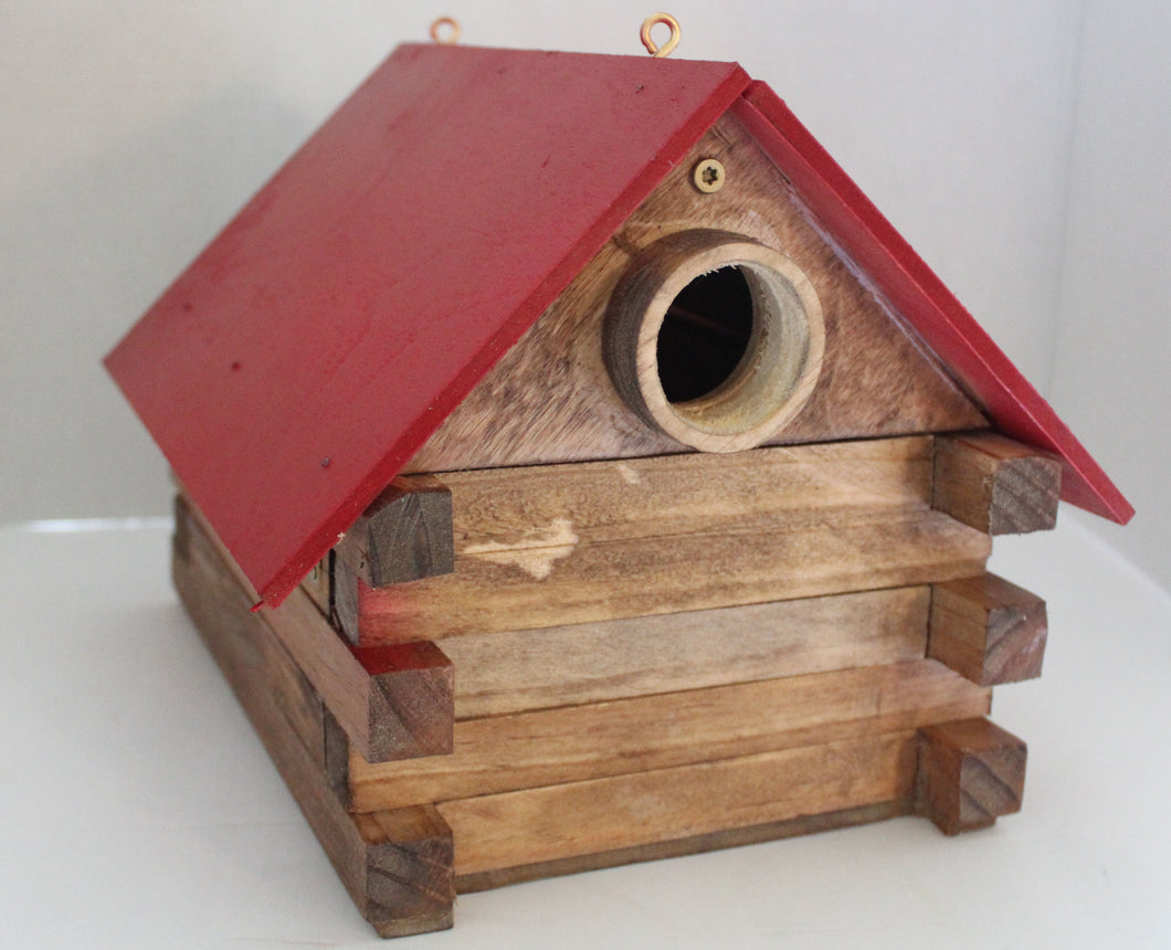 Buck Lee's Naturals Red Roof Nest Box, Bird House