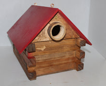 Load image into Gallery viewer, Buck Lee's Naturals Red Roof Nest Box, Bird House