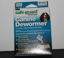 Load image into Gallery viewer, Safe-Guard Fenbendazole Canine De-wormer Various Sizes 1,2,4gram
