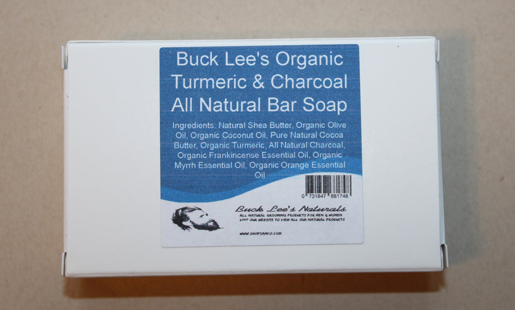 Buck Lee's Naturals Organic Turmeric & Charcoal Bar Soap 3oz
