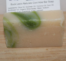 Load image into Gallery viewer, Buck Lee's Naturals Fresh Cool Aloe Body & Bath Soap Bar 4.8oz