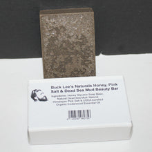 Load image into Gallery viewer, Buck Lee's Naturals Honey, Pink Salt & Dead Sea Mud Beauty Bar 3.6oz
