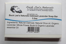 Load image into Gallery viewer, Buck Lee's Naturals Oatmeal Lavender Bar Soap 3.2oz