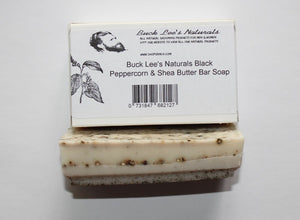 Buck Lee's Naturals Black Peppercorn Shea Butter Bar Soap