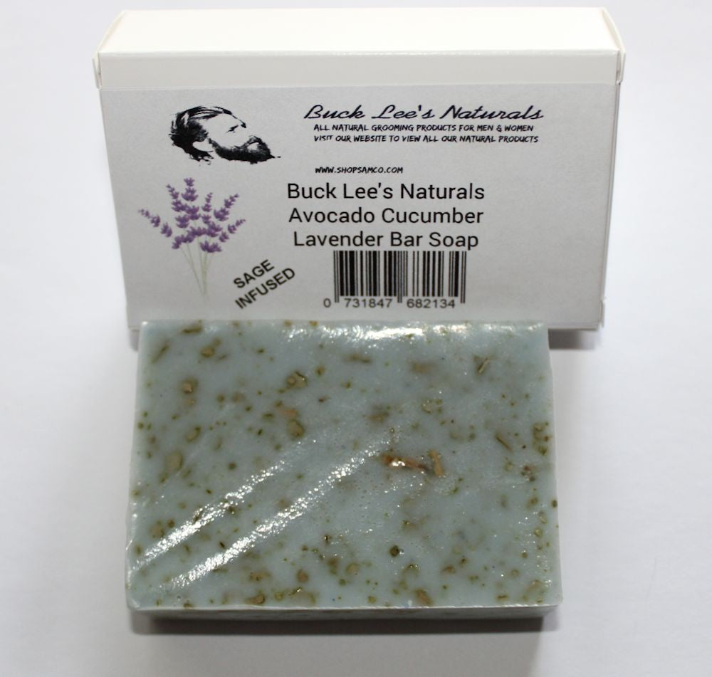 Buck Lee's Naturals Cucumber Avocado Sage Bar Soap