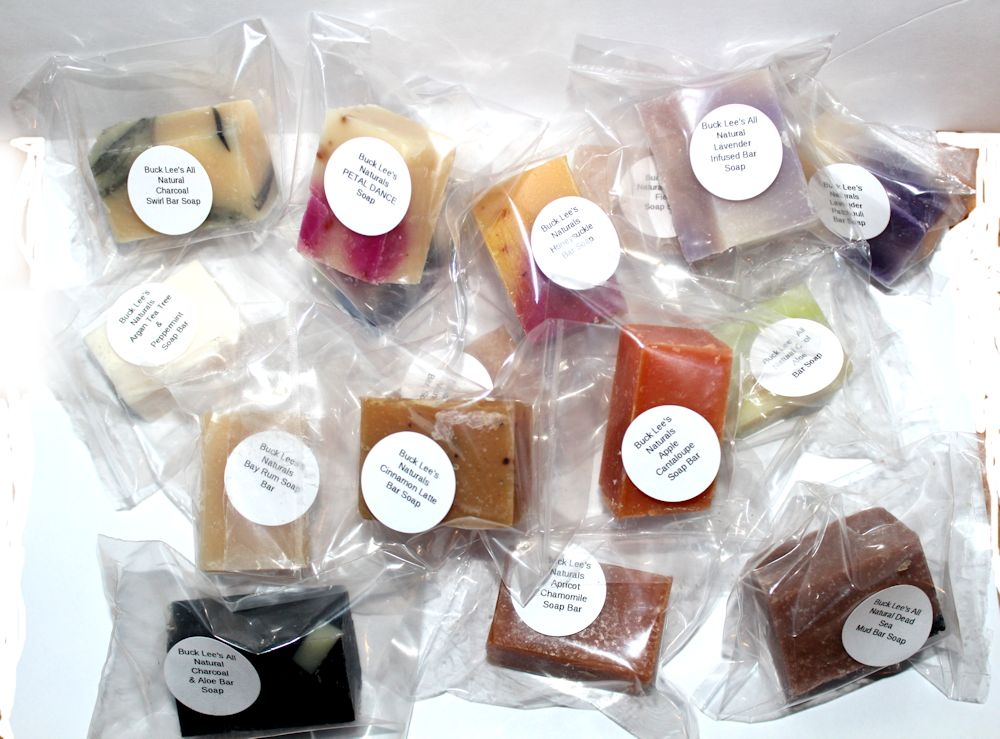 Buck Lee's Naturals Soap Sampler 16 Assorted Soap Bars
