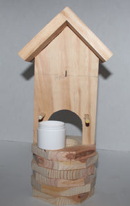 Buck Lee's Naturals Solid Wood Mini Wishing Well Feeder With Variations