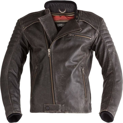 Triumph Mens Bobber Riding Leather Jacket