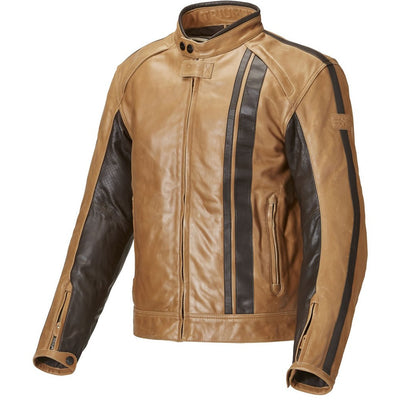 Triumph Mens Raven Tan Leather Jacket