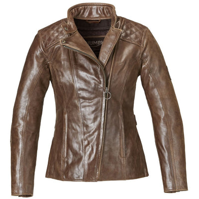 Triumph Ladies Barbour Brown Leather Jacket