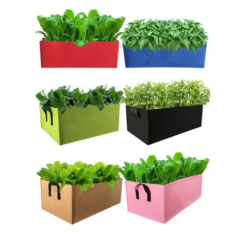 Heavy Duty Fabric Garden Planter Box with Handles