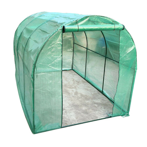 PVC Greenhouse Outdoor Growhouse Frame & Cover 10x6.5x6.5ft