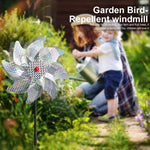 10pcs Bird Repeller Garden Pinwheels
