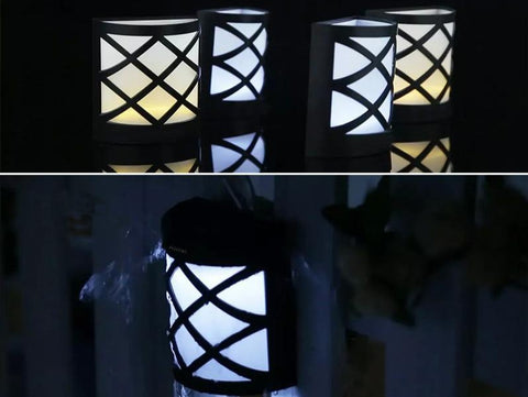 Solar LED Deck/Fence/Wall Sconces - 4 Pack