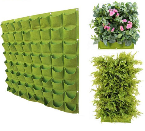 Fabric hanging vertical garden outdoor planting wall for plants, herbs, vegetables and more