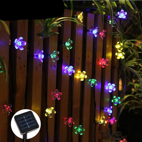Solar LED Waterproof Flower Petal String Lights