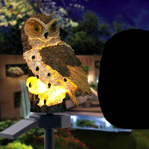 Owl Solar LED Light  - Waterproof Owl Garden Lamps