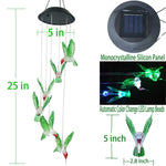 Solar LED Color Changing Hummingbird Wind Chimes