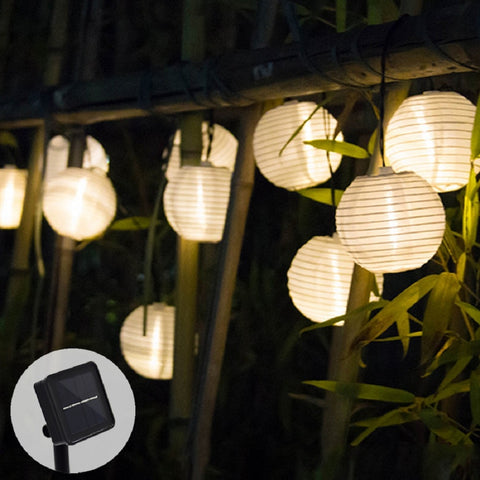 Solar LED Lantern String Lights