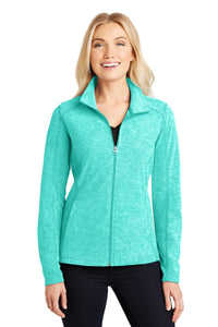 Port Authority® Ladies Heather Microfleece Full-Zip Jacket   L235