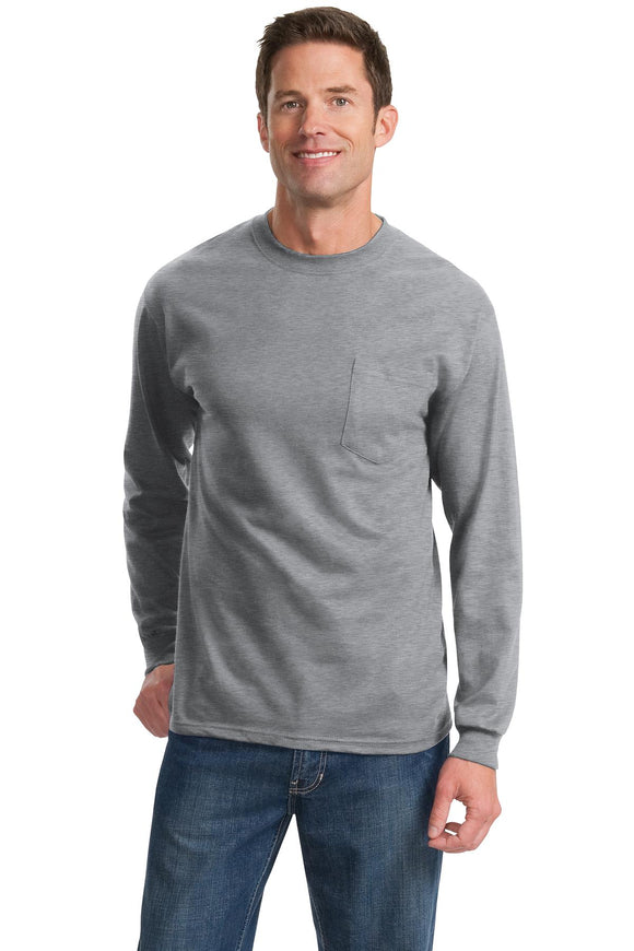 Port & Company® - Long Sleeve Essential Pocket Tee   PC61LSP