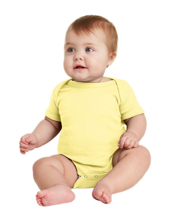 Rabbit Skins™ Infant Short Sleeve Baby Rib Bodysuit   RS4400