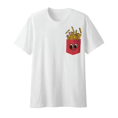 French Fries Pocket Tee (No Pocket)