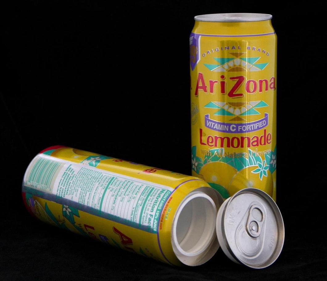 Arizona Iced Tea LEMONADE Concealment Can Diversion Safe Stash Can - Concealment Cans Hidden Safe