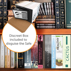 Fake Book Box Hidden Security Safe with Diversion Book Safe Disguise - Concealment Cans Hidden Safe