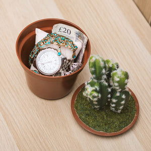 Plastic Cactus Plant Home Concealment Diversion Safe Stash Safe - Concealment Cans Hidden Safe